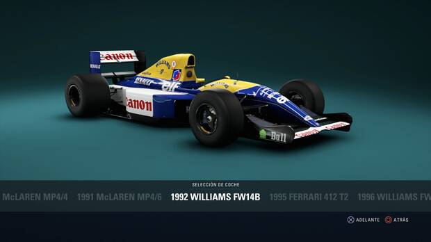 F1 2018 - Coches clásicos - Williams FW14B de 1992
