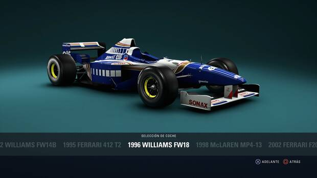 F1 2018 - Coches clásicos - Williams FW18 de 1996