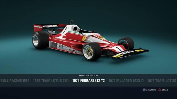 F1 2018 - Coches clásicos - Ferrari 312 T2 de 1976