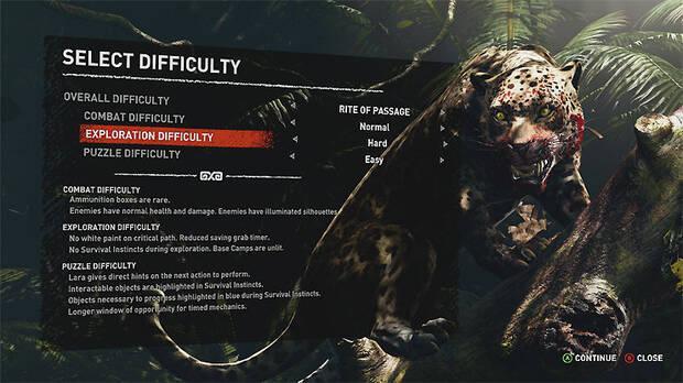 Shadow of the Tomb Raider permitirá elegir distintos parámetros en la dificultad Imagen 2