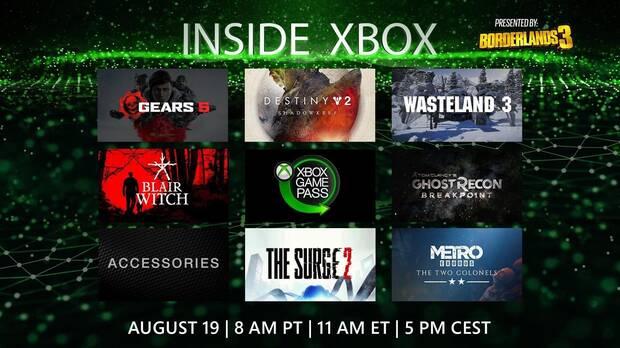 Inside Xbox gamescom 2019: Sigue aquí la retransmisión en DIRECTO Imagen 2