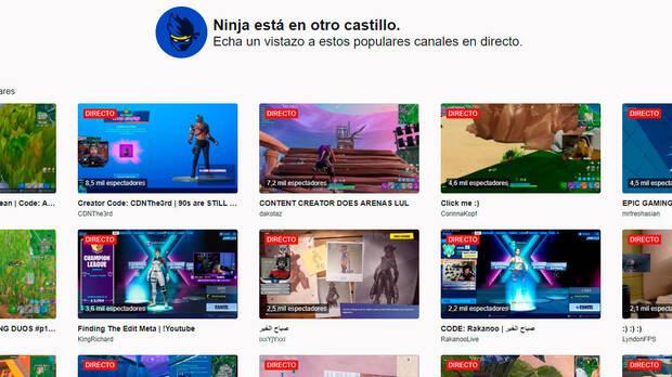 Twitch aprovecha el antiguo canal de Ninja para promocionar a otros streamers Imagen 2