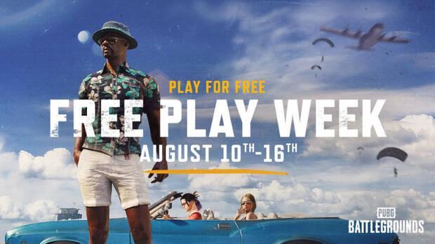 Semana de juego gratis en PUBG: Battlegrounds.