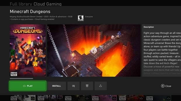 Xbox Cloud Gaming en consolas