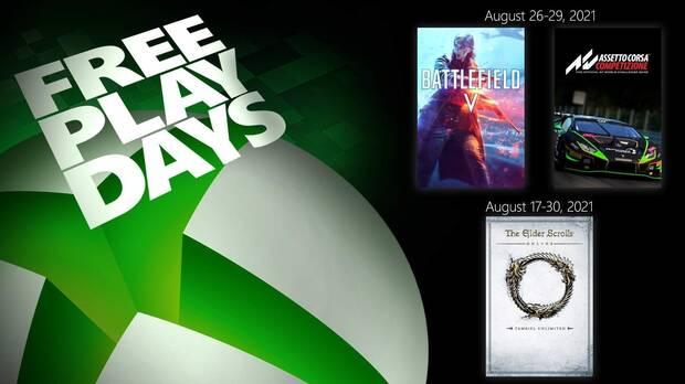 Free Play Days del 27 al 29 de agosto.