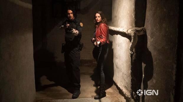 Claire Redfield y Leon S. Kennedy en Resident Evil: Bienvenidos a Raccoon City.