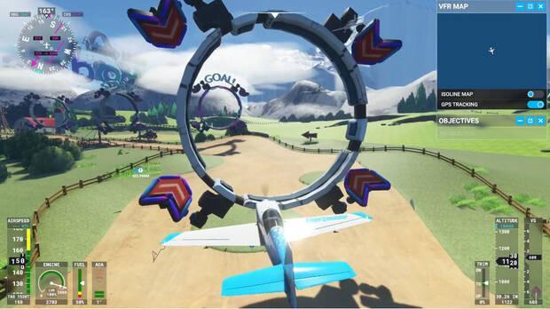 Mod de Mario Kart 8 en Microsoft Flight Simulator.