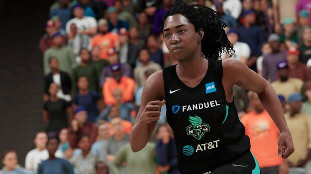 Una jugadora de baloncesto representada en NBA 2K21