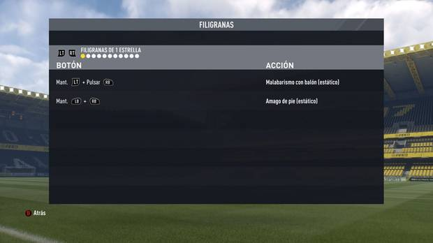 Regates y filigranas de una estrella en FIFA 17
