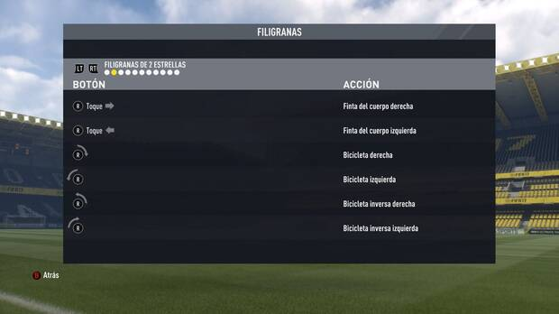 Regates y filigranas de dos estrellas en FIFA 17