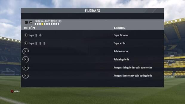 Regates y filigranas de tres estrellas en FIFA 17