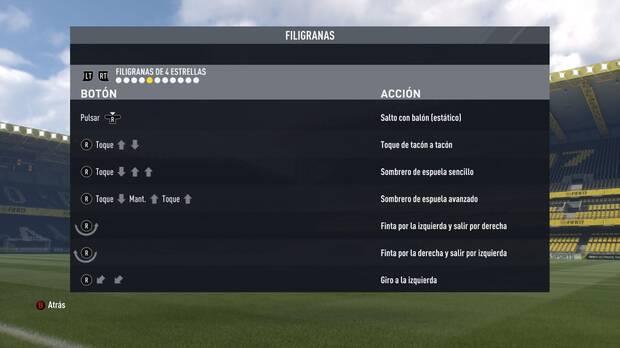 Regates y filigranas de cuatro estrellas en FIFA 17