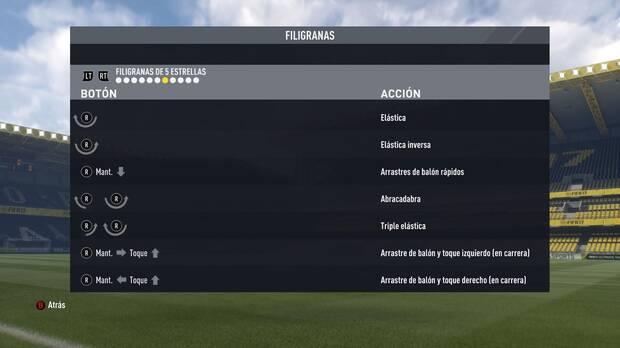 Regates y filigranas de cinco estrellas en FIFA 17