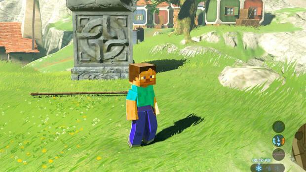 Un 'mod' introduce a CJ de GTA San Andreas en Zelda: Breath of the Wild Imagen 2
