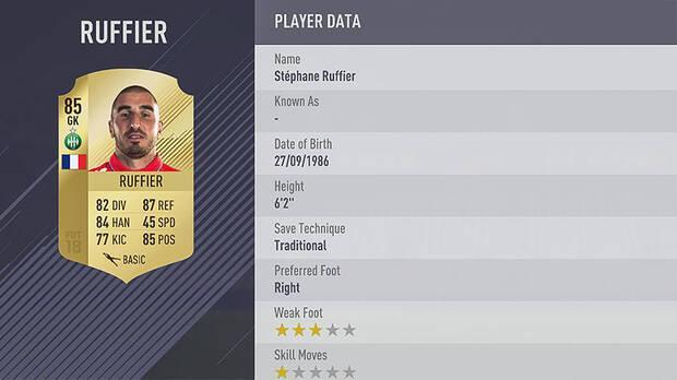 Ruffier FIFA 18