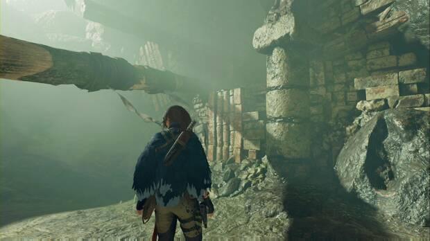 Tumba Cuevas ululantes: tienes que subir por esta pared