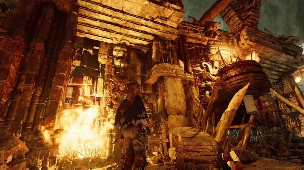 Tumba Cuevas ululantes: sube por la pared que está junto a la palanca