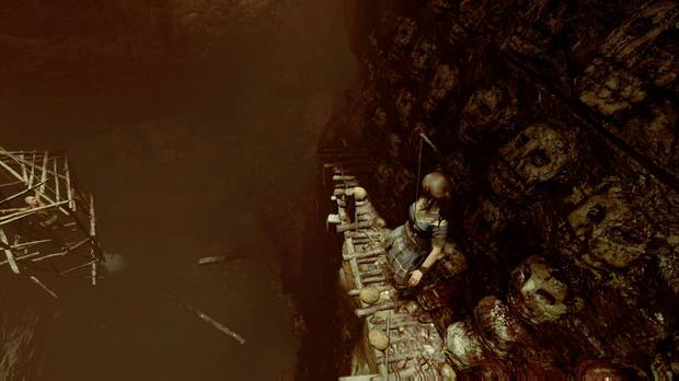 Shadow of the Tomb Raider - La ciudad oculta: escala por el vientre de la serpiente saltando de cornisa en cornisa