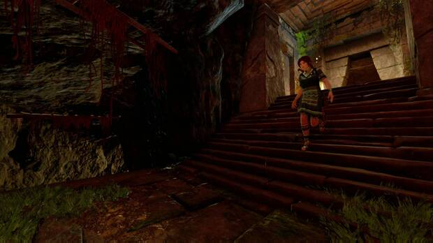 Shadow of the Tomb Raider - El amuleto del salvador: baja las escaleras de la cueva