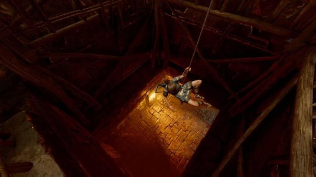 Shadow of the Tomb Raider - El Ojo de la serpiente: baja haciendo rápel