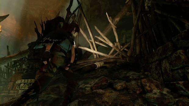shadow of the tomb raider - el ojo de la serpiente: tira abajo la barricada