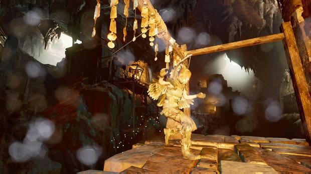 shadow of the tomb raider - el ojo de la serpiente: deslízate por la cuerda para avanzar