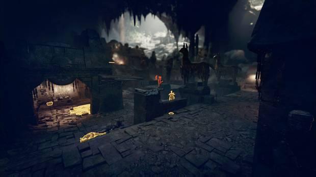 shadow of the tomb raider - el ojo de la serpiente: sala con muchos enemigos