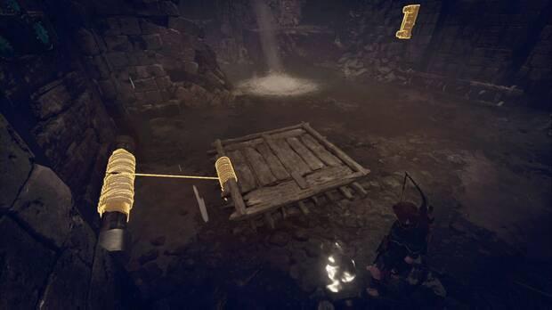 Tumba Acueducto antiguo: conecta la balsa con la puerta para levantarla