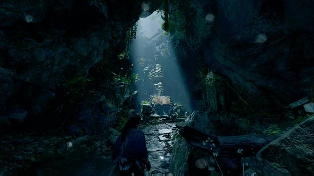 shadow of the tomb raider - chaparrón: desciende a la cueva