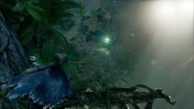 shadow of the tomb raider - chaparrón: súbete a los árboles para tener ventaja sobre los enemigos