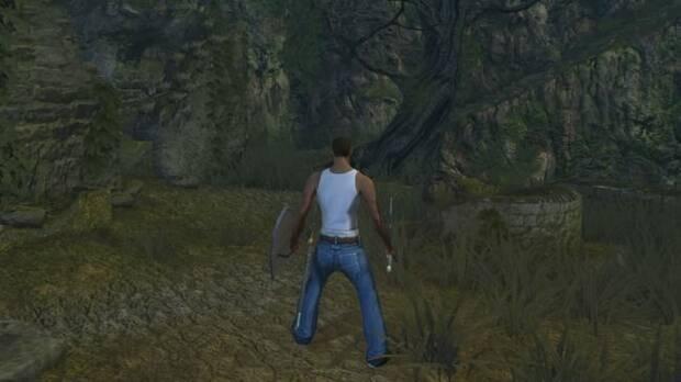 CJ de GTA San Andreas viaja hasta Lordran de Dark Souls Imagen 3