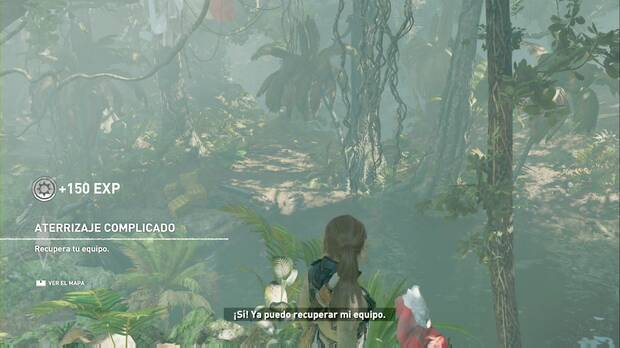 Shadow of the Tomb Raider - Aterrizaje forcoso: corta las cuerdas para recuperar tu equipo