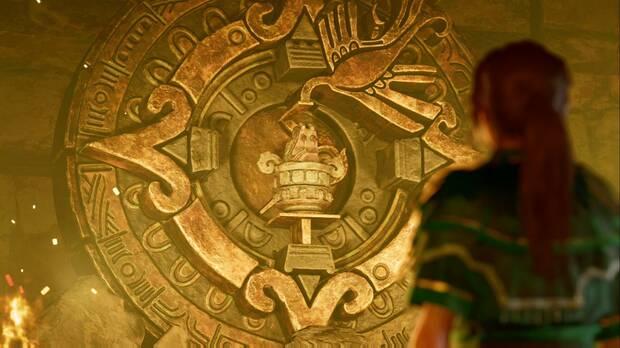 shadow of the tomb raider - el último emperador: lara encuentra un mural con la profecía del fin del mundo