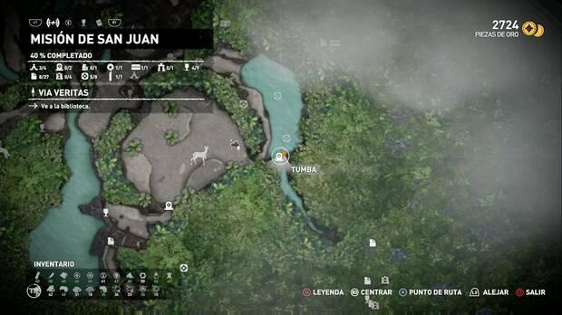 Tumba cuenca inundada: localización
