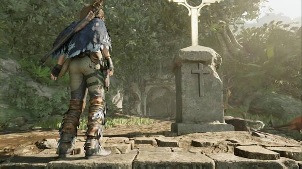 Shadow of the Tomb Raider - La cruz hace que se mueva la pared del fondo