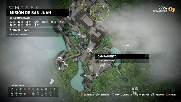 Campamento Torre en ruinas (Misión de San Juan)