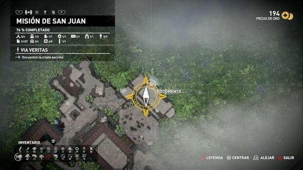 Documento Expulsando a los demonios (Misión de San Juan)