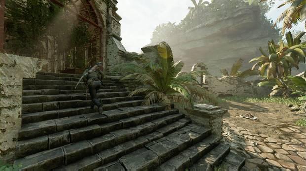 Shadow of the Tomb Raider - Tumba Árbol de la vida: accede a la Tumba por las escaleras