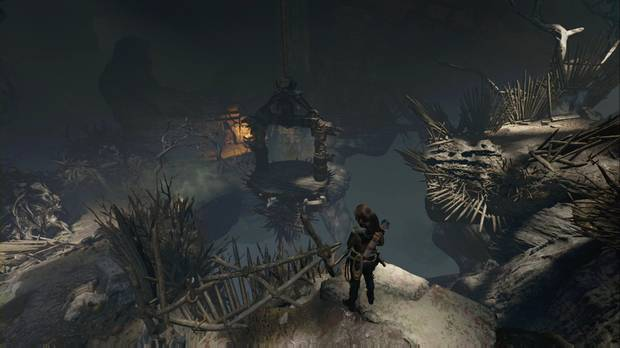 Shadow of the Tomb Raider - Tumba ÁRbol de la vida: haz estallar el gas para mover la plataforma