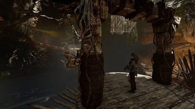Shadow of the Tomb Raider - Tumba Árbol de la vida: haz estallar el gas desde la primera plataforma