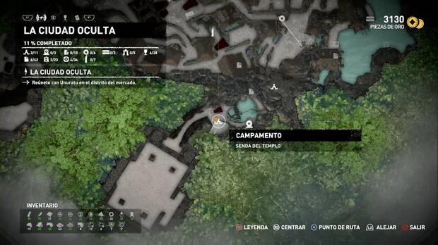 Campamento Senda del templo (La ciudad oculta)