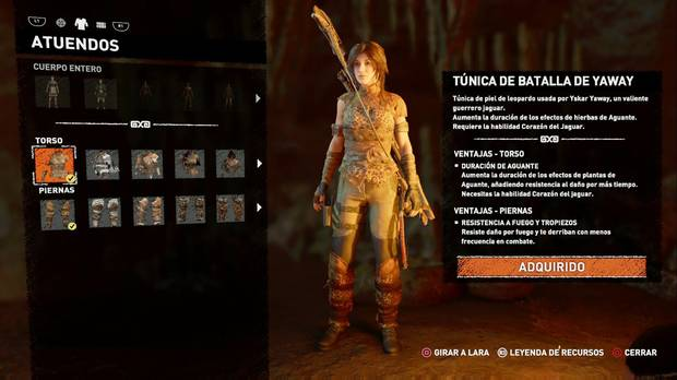 Shadow of the Tomb Raider - Atuendo Ancestral Yaway