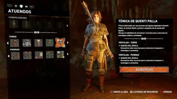 Shadow of the Tomb Raider - Atuendo Ancestral de Quenti Palla