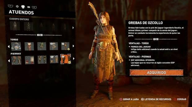 Shadow of the Tomb Raider - Atuendo Ancestral de Ozcollo