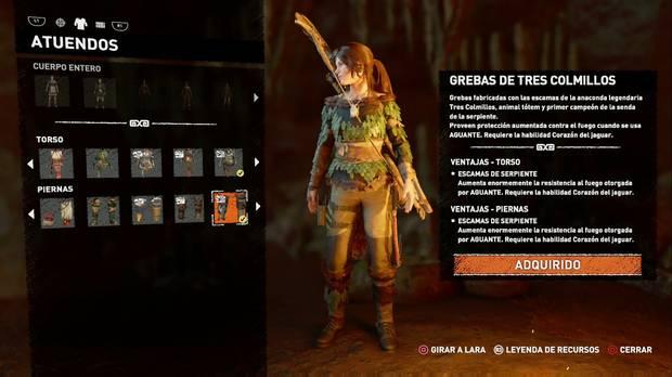 Shadow of the Tomb Raider - Atuendo Ancestral de Tres Colmillos