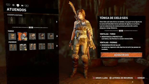 Shadow of the Tomb Raider - Atuendo Ancestral de Cielo Seis