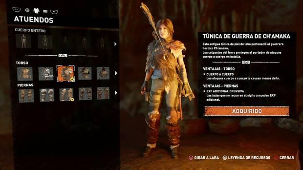 Shadow of the Tomb Raider - Atuendo Ancestral de Ch'amaka