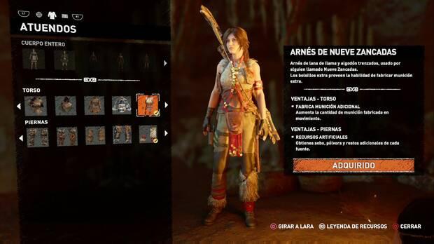 Shadow of the Tomb Raider - Atuendo Ancestral de Nueve Zancadas