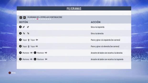 Filigranas de 4 estrellas FIFA 19