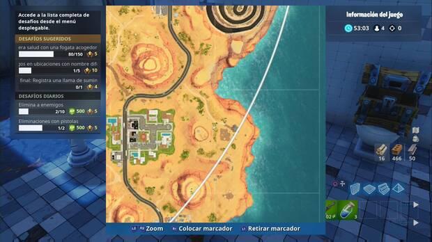 Fortnite Battle Royale - Partida de caza: Oasis ostentoso, localización de la granja